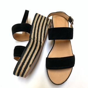 Joie Galicia Size 40 10 Two Band Espadrille Wedges